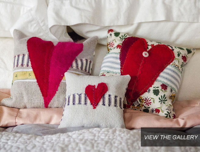 Humble Homespun Heart Sachets