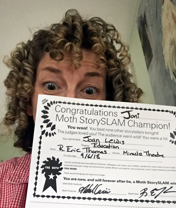 Joni Ulman Lewis, Winner, The Moth Storytelling